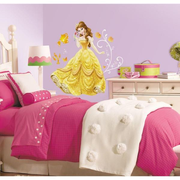 5 in. x 19 in. Disney - Princess Belle Peel and Stick Giant Wall Decal