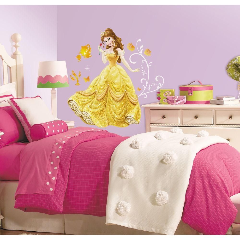 RoomMates 5 In. X 19 In. Disney   Princess Belle Peel And Stick Giant