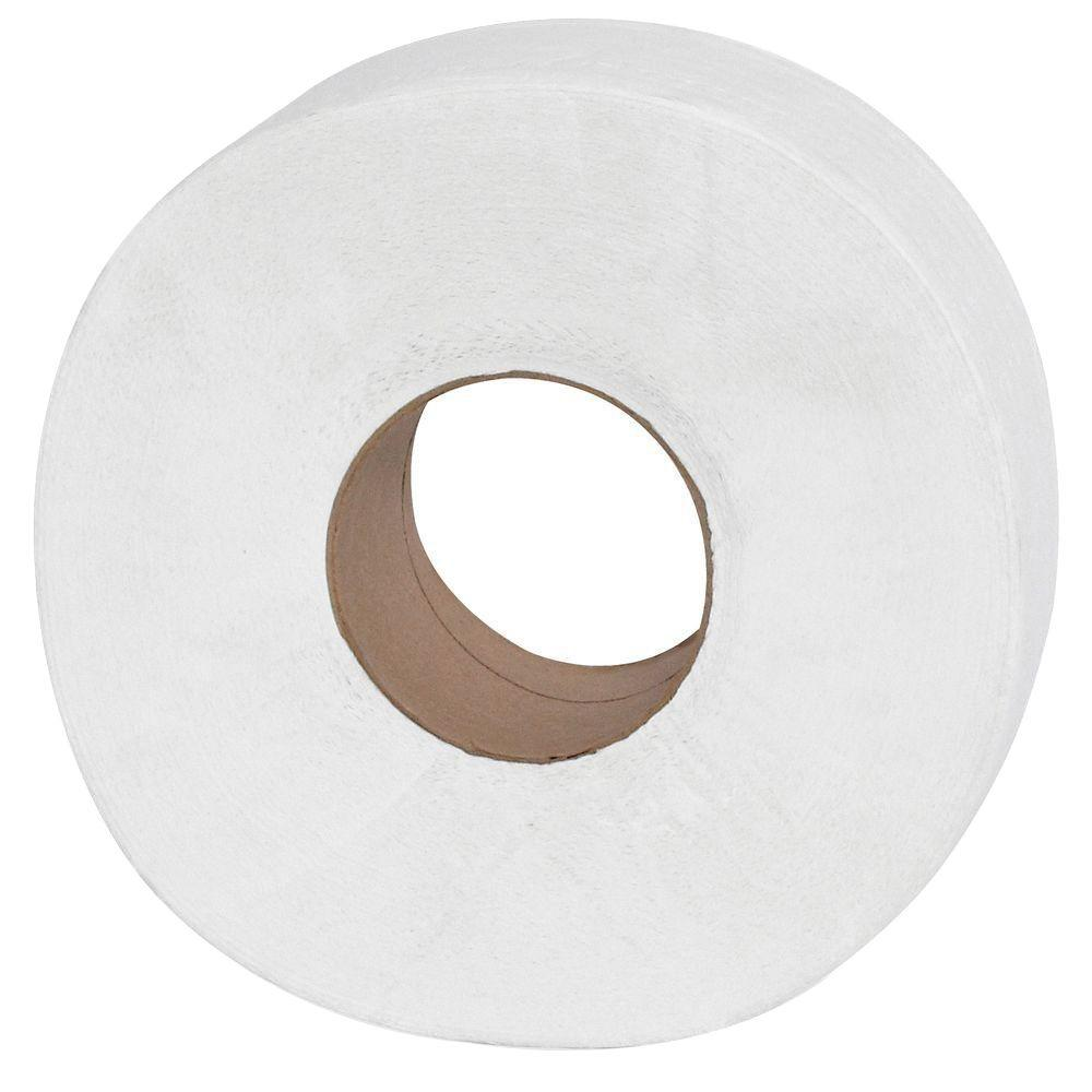 Genuine joe jumbo roll dispenser bath tissue 2 ply 12 for Bathroom 94 percent