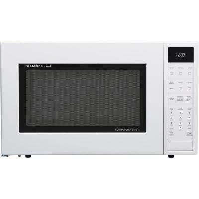 1.5 cu. ft. Countertop Convection Microwave in White, Built-In Capable with Sensor Cooking