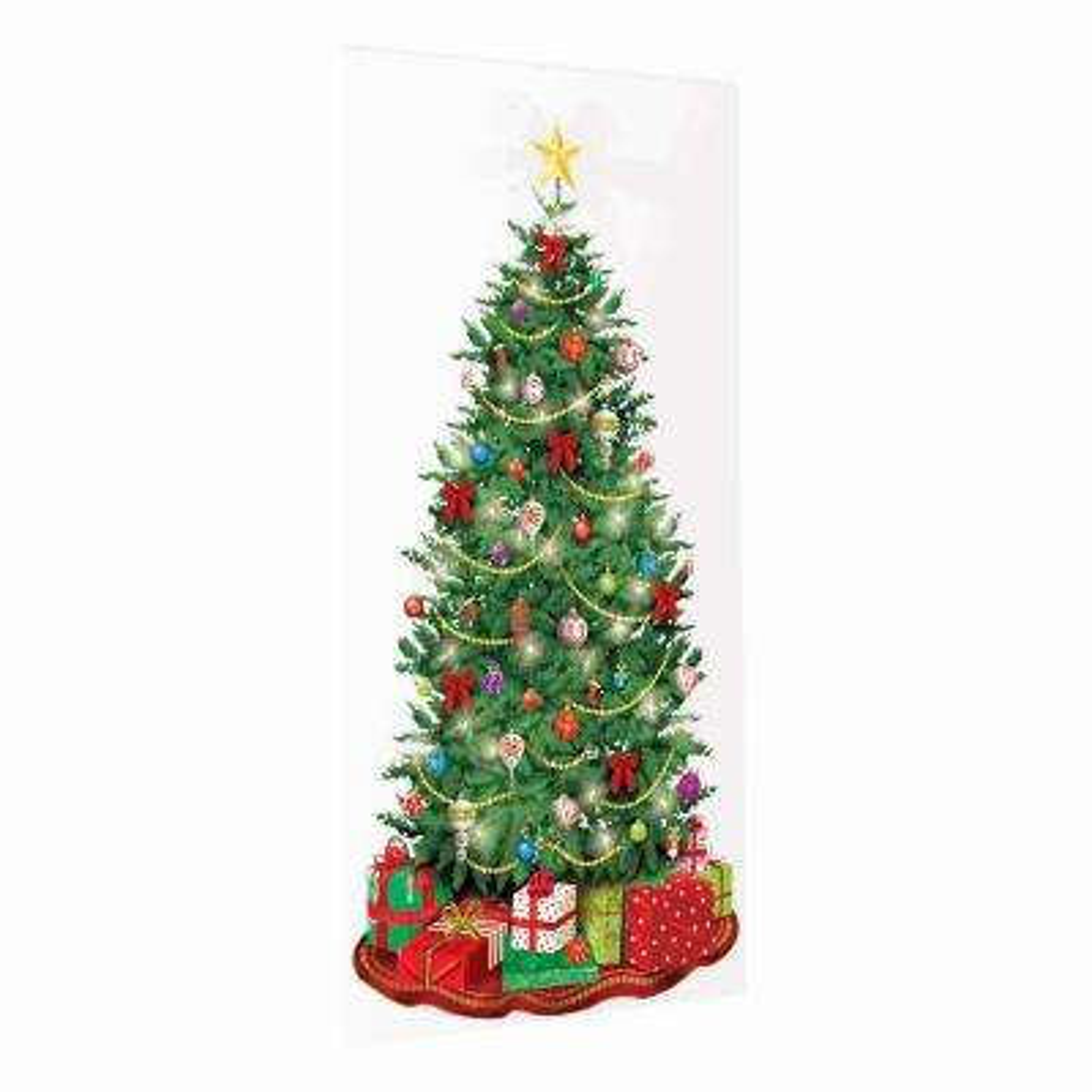 65 in. x 33.5 in. Classic Christmas Tree Scene Setter (5-Pack)