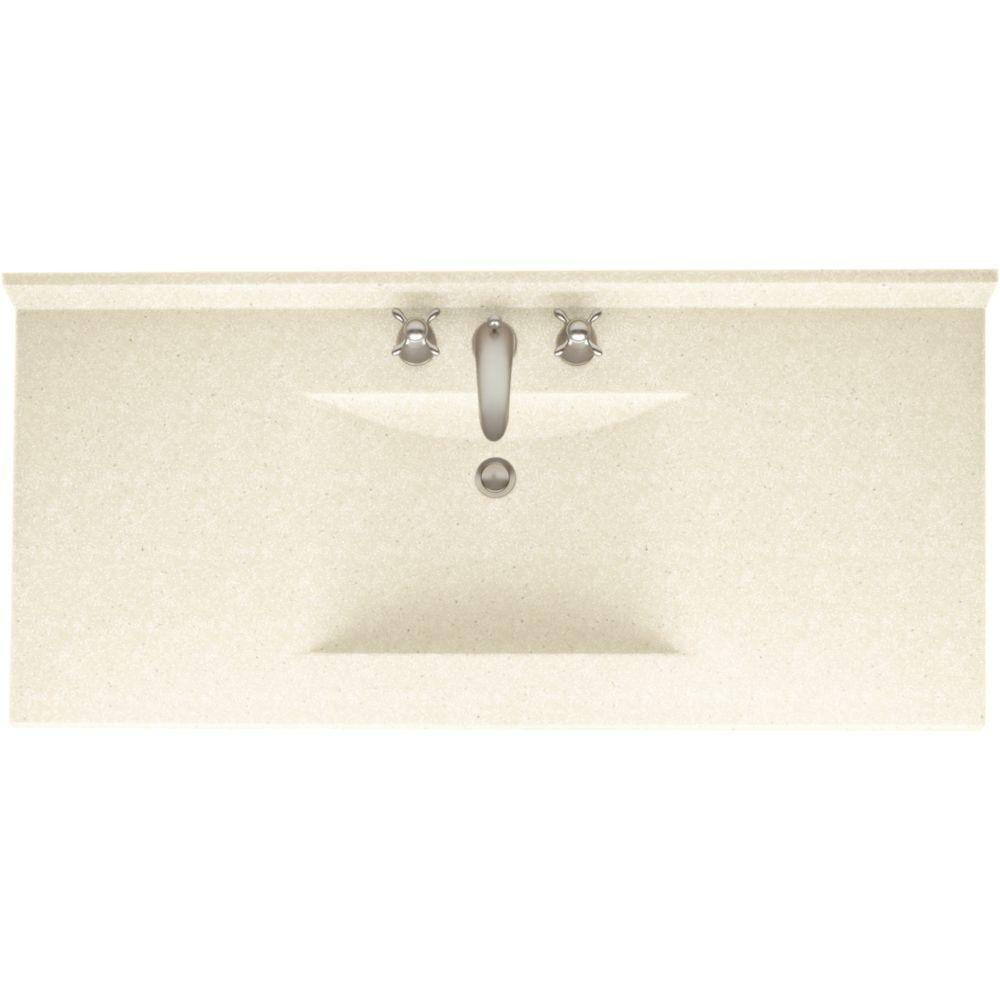 Swan Contour 43 In W X 22 D Solid Surface Vanity Top With