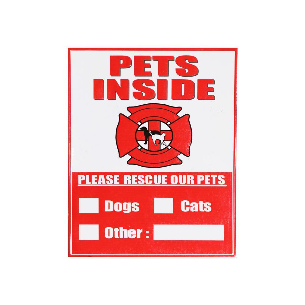 4 in. x 5 in. Pet Alert Sticker Sign (4-Pack)