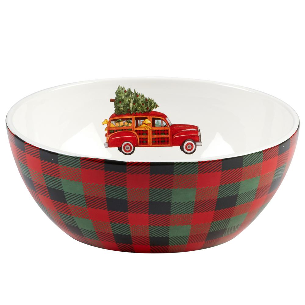 Home For Christmas Serving Bowl