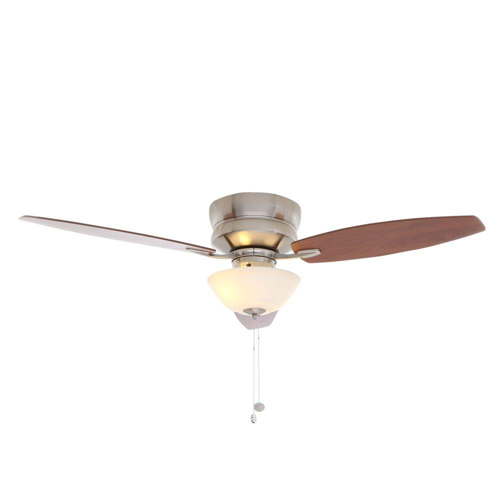 Hampton Bay Rapallo 52 In Indoor Brushed Nickel Ceiling Fan With Light Kit Wiring Harness