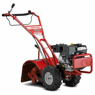 Super Bronco 16 in. 208 cc OHV Engine Rear-Tine Counter-Rotating Gas Tiller with 1 Hand Operation and Power Reverse