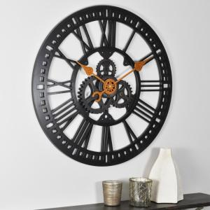 FirsTime 24 inch Round Roman Gear Wall Clock by FirsTime