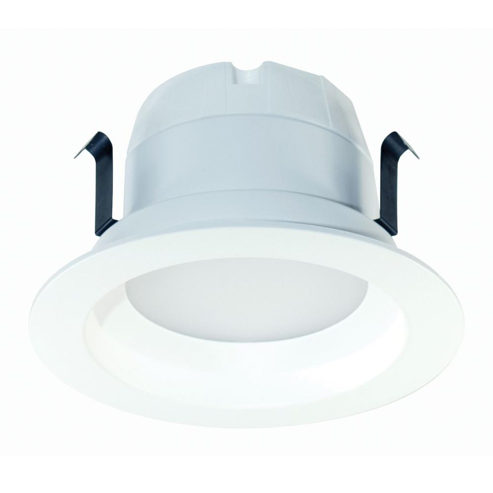Halco Lighting Technologies 50 Watt Equivalent 10 4 In Dimmable Cec Ja8 White Integrated Led Recessed Retrofit Downlight Trim Warm 99633