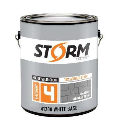 Category 4 1 gal. White Matte Exterior Wood Siding 100% Acrylic Stain