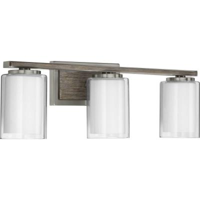 Mast 3-Light Brushed Nickel Bath Light
