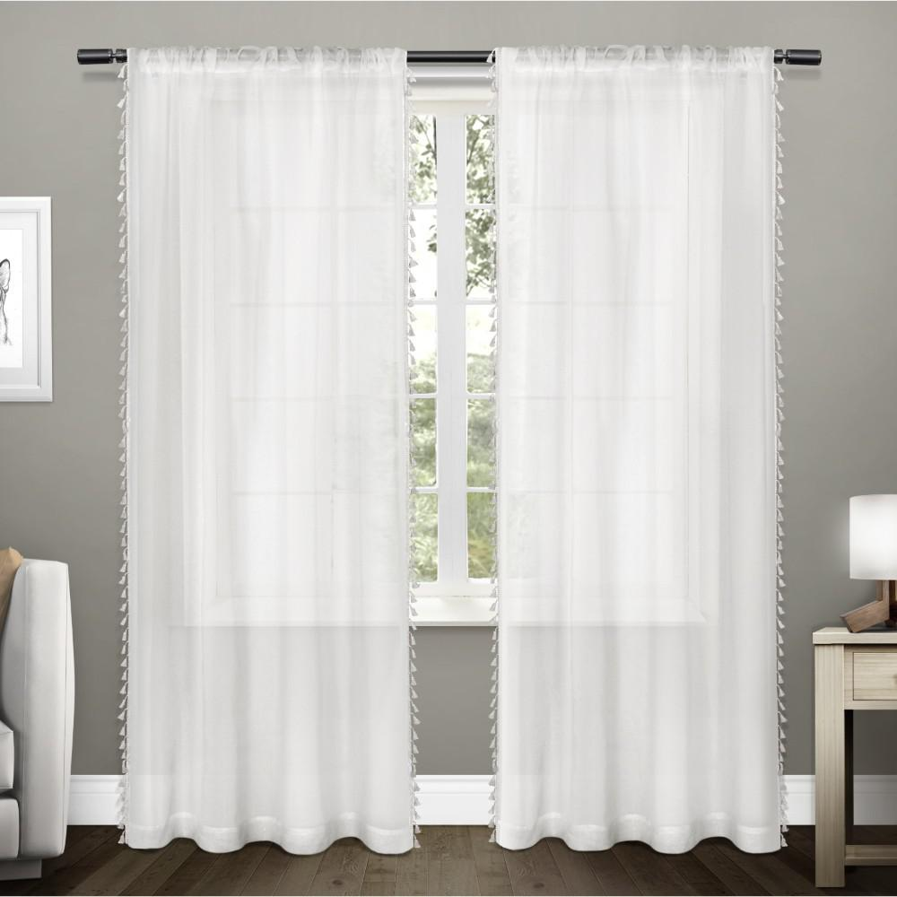 Exclusive Home Curtains Tassels 54 In. W X 108 In. L Sheer