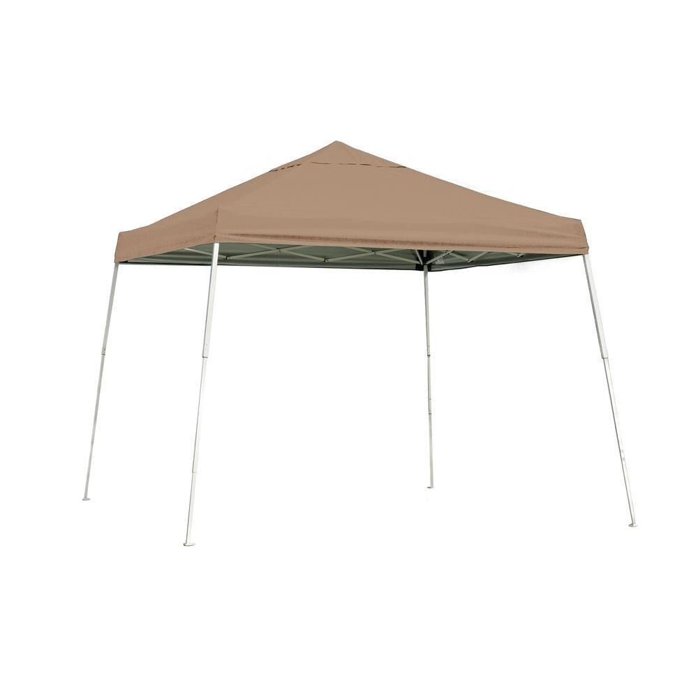 ShelterLogic 10 ft. x 10 ft. SL Pop-up Canopy with Desert Bronze Cover and Black Roller Bag