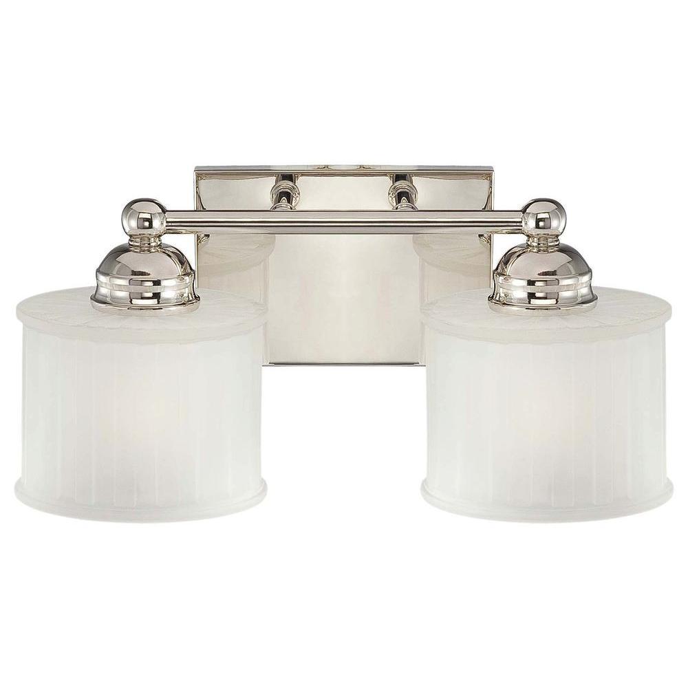 2-Light Polished Nickel Bath Light