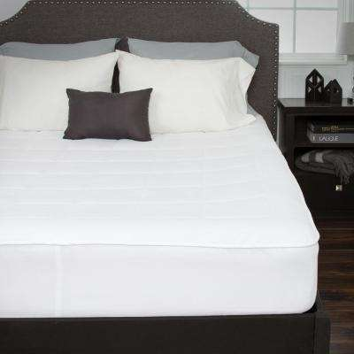 King 16 in. Down Alternative Mattress Pad with Fitted Skirt