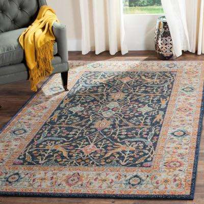 Madison Navy/Cream 8 ft. x 10 ft. Area Rug