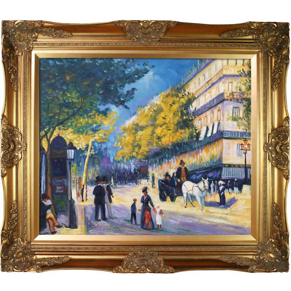 LA PASTICHE The Great Boulevards, 1875 with Victorian Gold Frameby Pierre-Auguste Renoir Oil Painting, Multi-Colored was $904.0 now $413.06 (54.0% off)