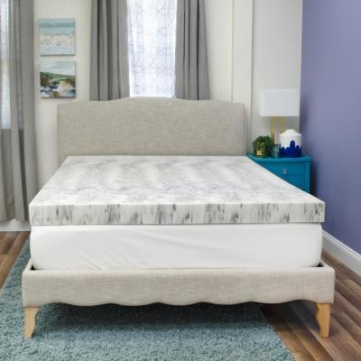 Bamboo Charcoal 4 in. King Memory Foam Mattress Topper