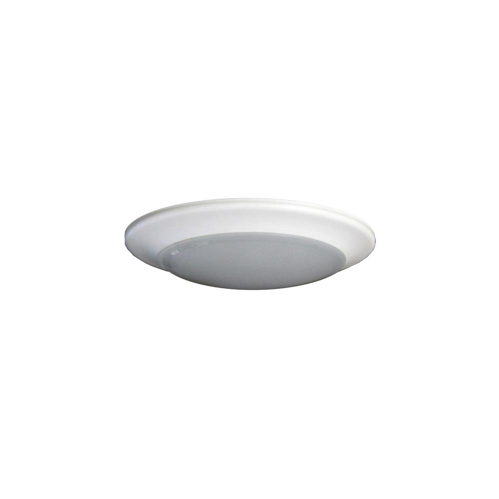 Round Disk Light Length 9 In White Recessed Integrated Led Trim Kit Fixture 3000k Warm New Construction
