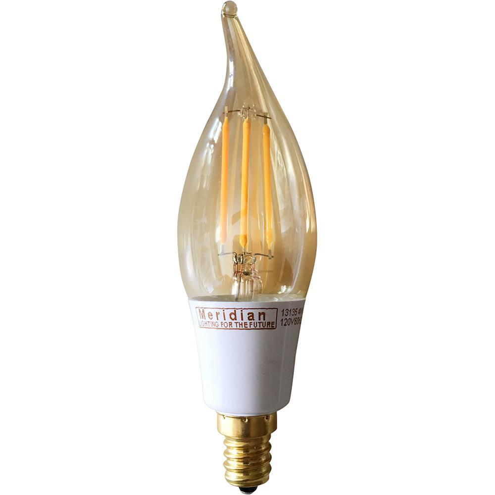 40-Watt Equivalent Warm White CA10 Dimmable Vintage LED Light Bulb