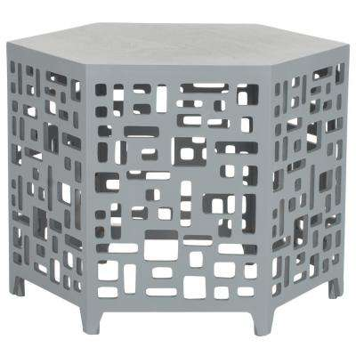 Kelby Pearl Blue Grey End Table