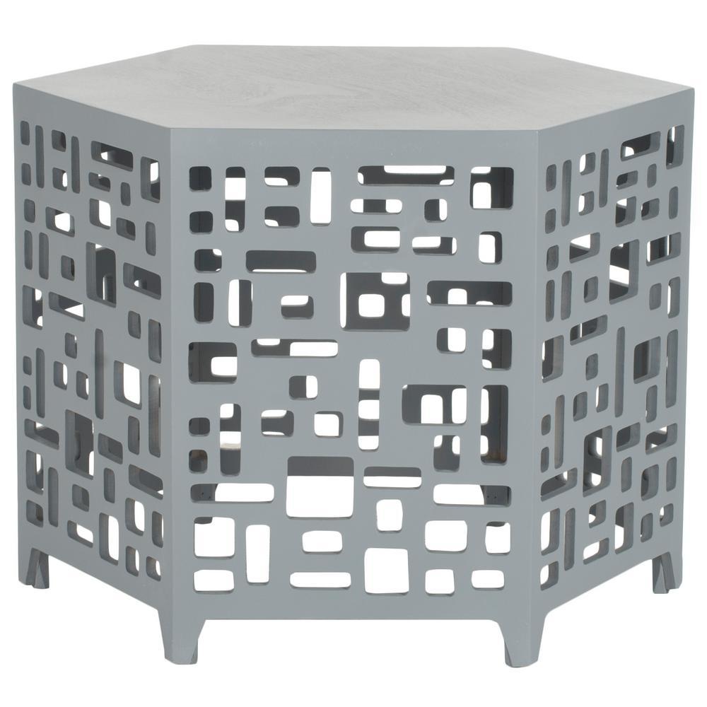 Safavieh Kelby Pearl Blue Grey End Table AMH4612B