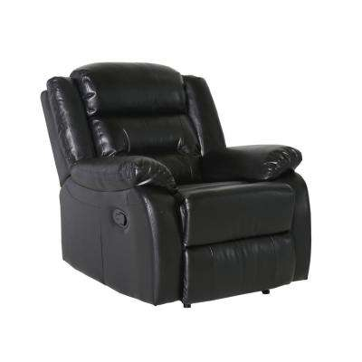 Simmons Black Bonded Leather Match Recliner Chair