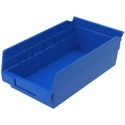 Shelf Bin 15 lbs. 11-5/8 in. x 6-5/8 in. x 4 in. Storage Tote in Blue with 0.8 Gal. Storage Capacity