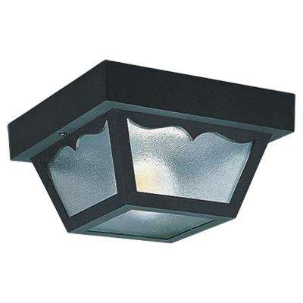 2-Light Black Outdoor Ceiling Fixture