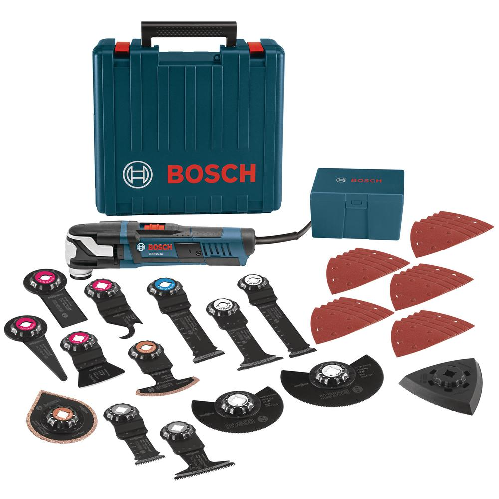 Bosch 5.5 Amp Corded StarlockMax Oscillating Multi-Tool Kit with Case (40-Piece)