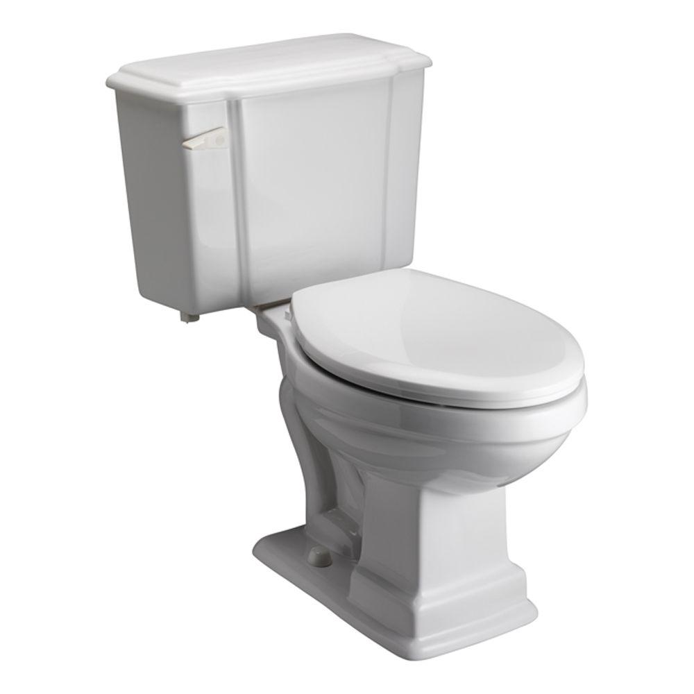 Pegasus Constitution 2-Piece Elongated Toilet in White-DISCONTINUED