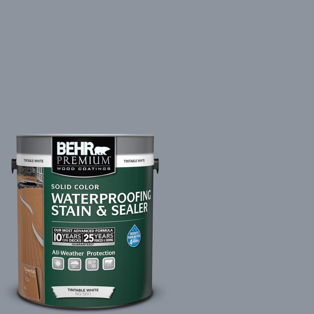 1 gal. #BXC-88 Cool December Solid Color Waterproofing Exterior Wood Stain