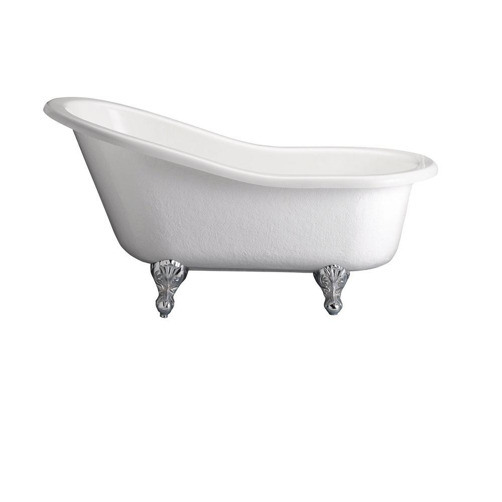 Pegasus 5 Ft Acrylic Ball And Claw Feet Slipper Tub In White