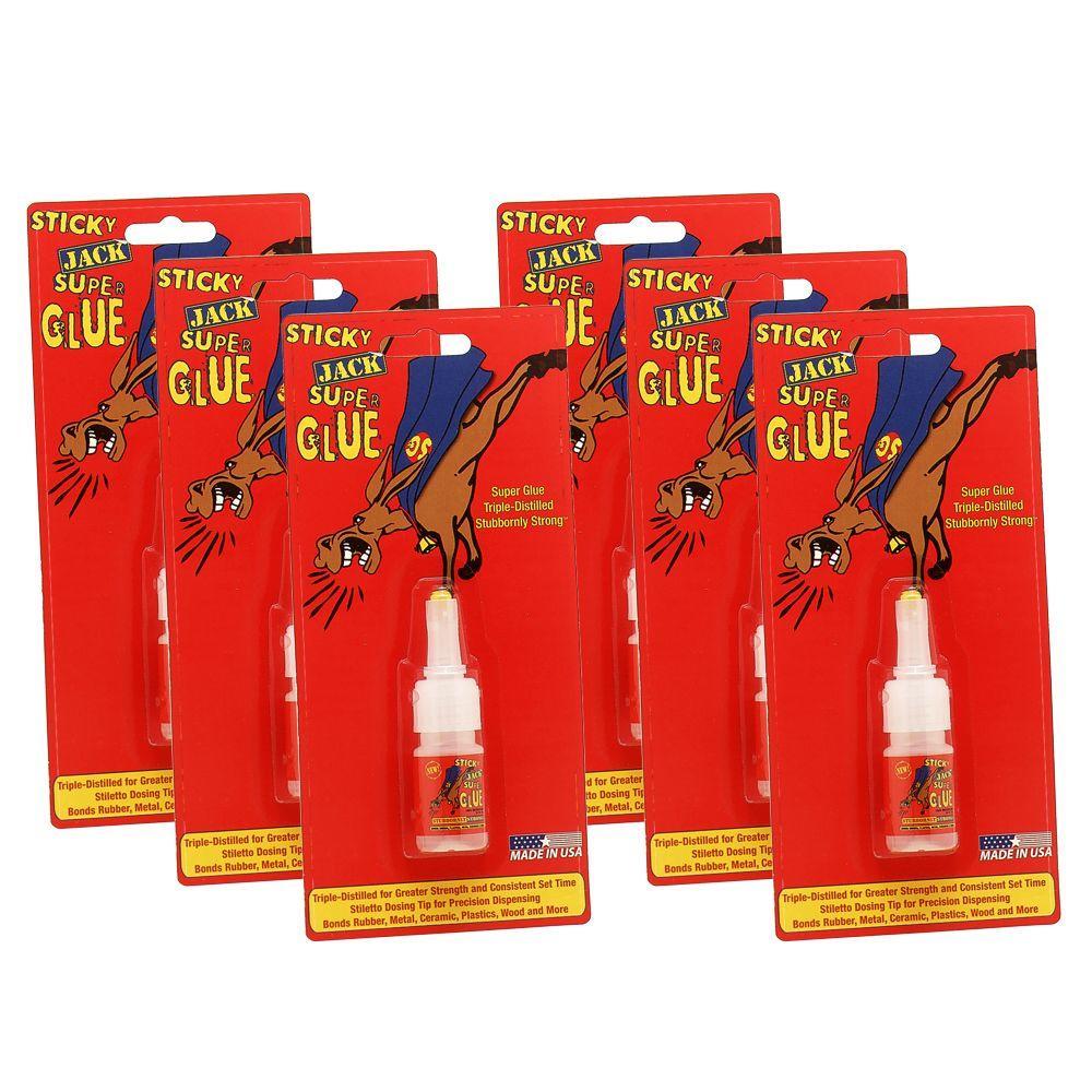 Sticky Jack Multi-Pack - 6 10g Bottles of Super Glue