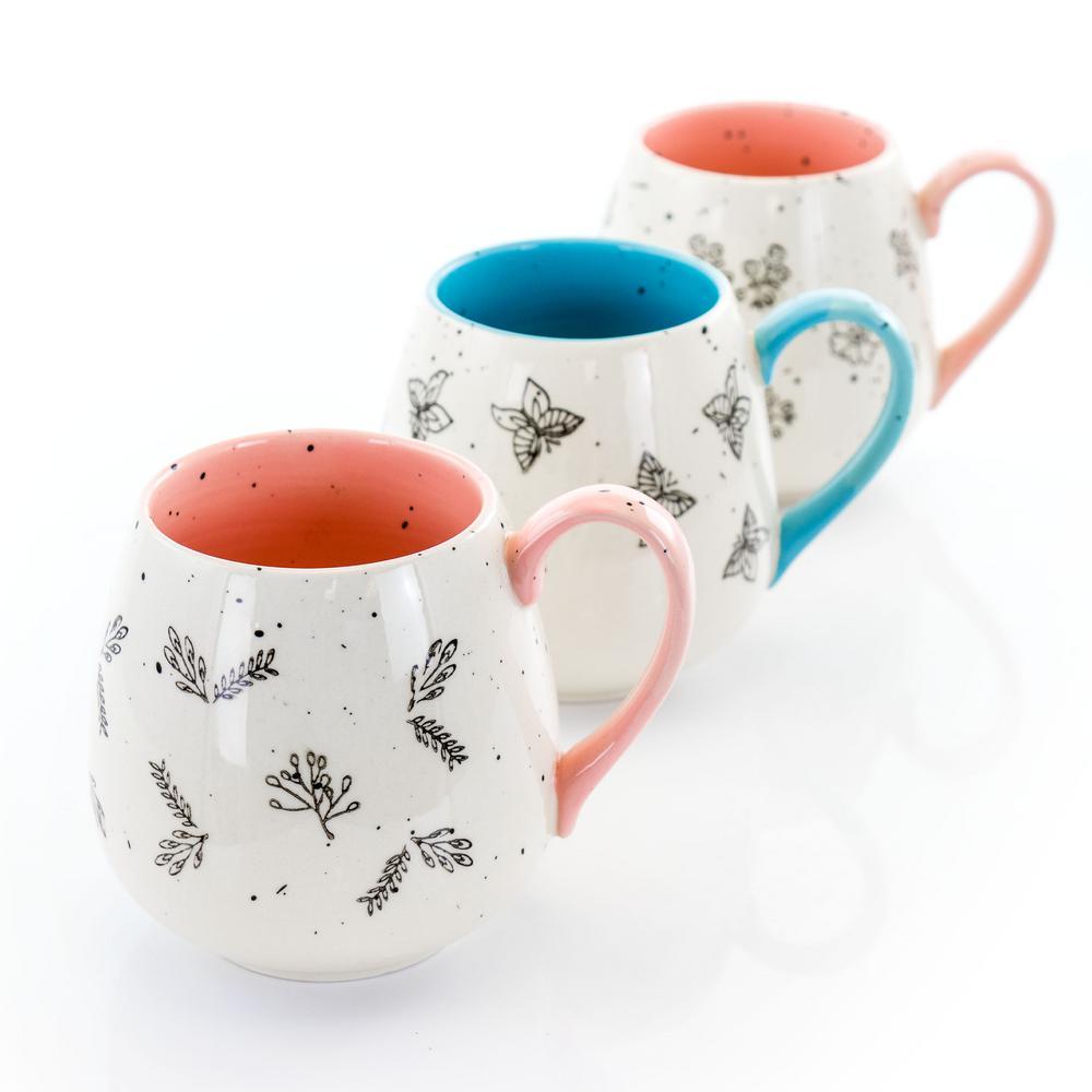 20 oz. Assorted Stoneware Mug (Set of 3)