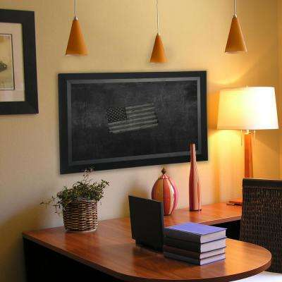 47 in. x 35 in. Attractive Matte Black Blackboard/Chalkboard