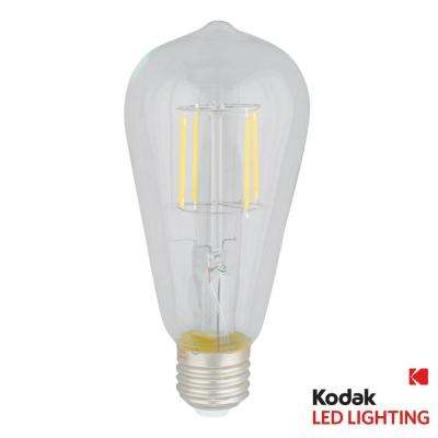 60W Equivalent Warm White Vintage Filament ST64 Dimmable LED Light Bulb