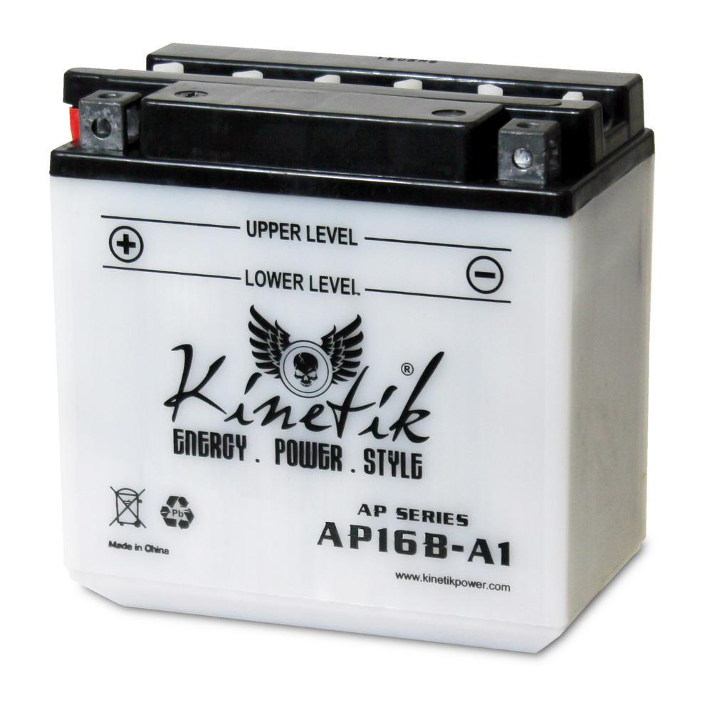 Conventional Wet Pack 12- Volt 16 Ah Capacity D Terminal Battery
