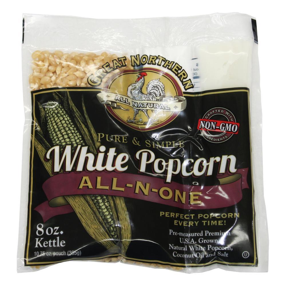 8 oz. White Popcorn Portion Packs (24-Pack)