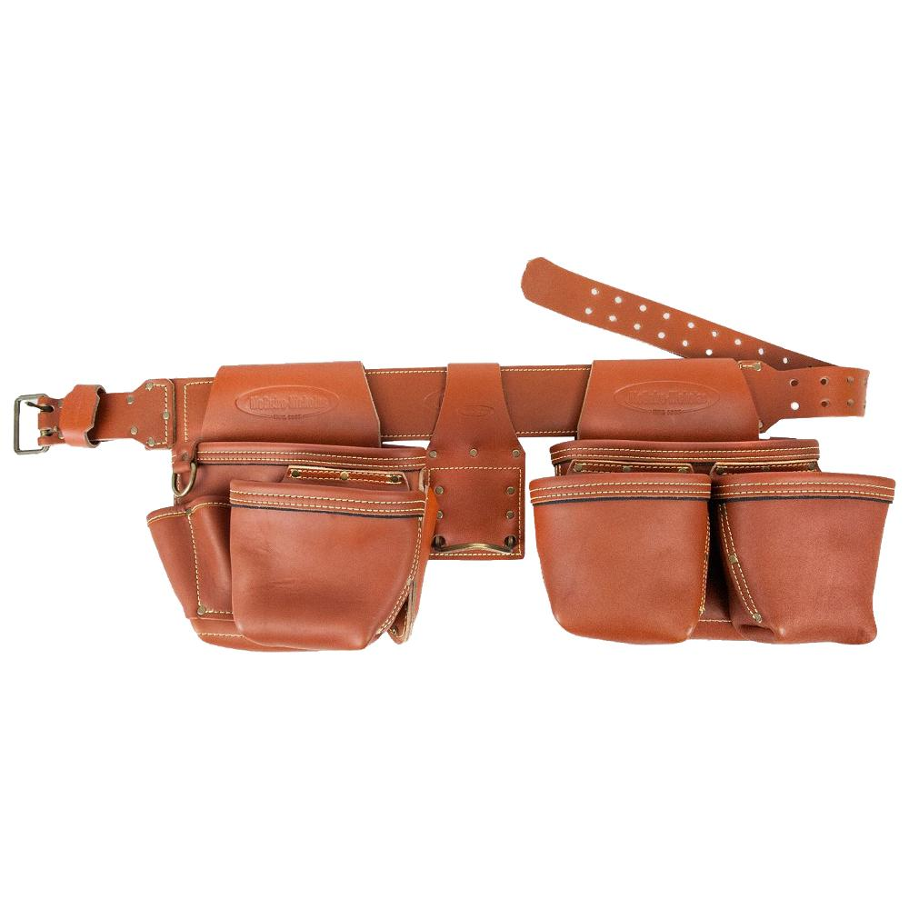 52.5 in. 2-Bag Brown Leather Rig