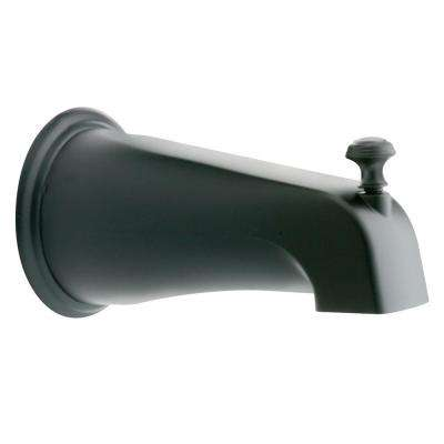 Monticello Diverter Tub Spout with Slip Fit Connection in Wrought Iron