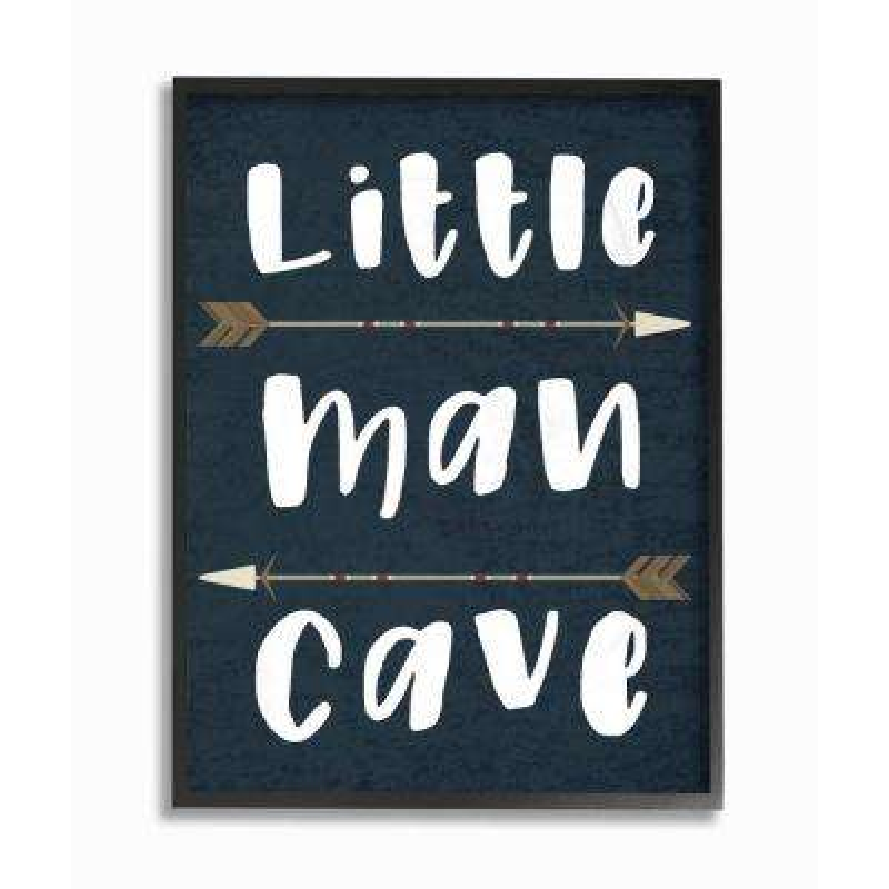 """11 in. x 14 in. """"Little Man Cave Arrows"""" by Daphne Polselli Wood Framed Wall Art"""