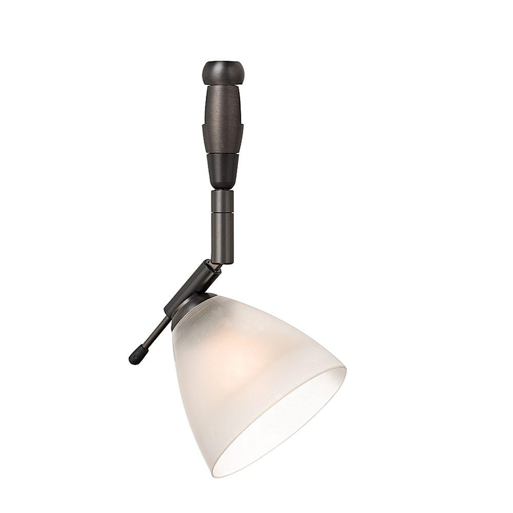 Mini-Dome I Swivel I 1-Light Bronze Frost Track Lighting Head