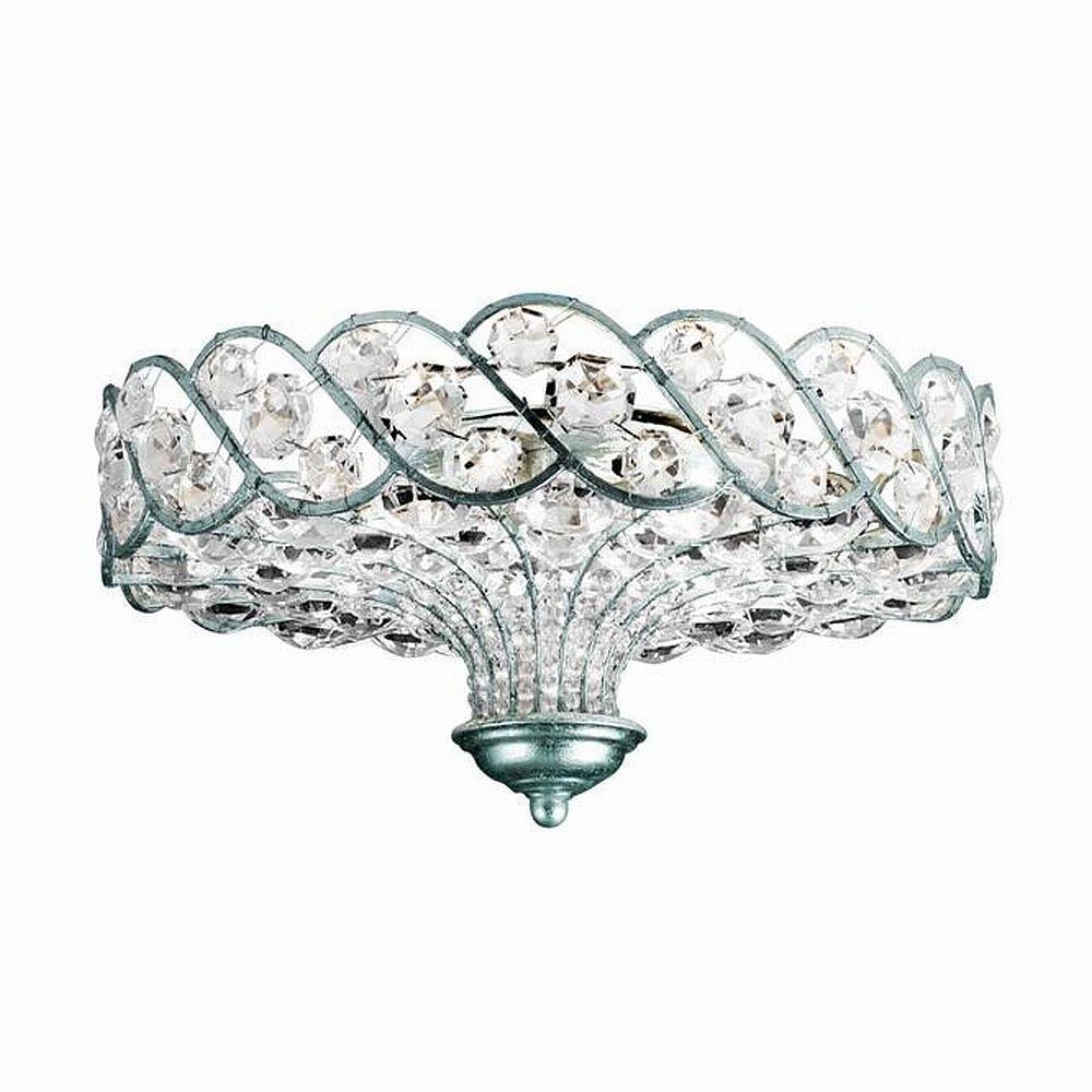 Eurofase Catara Collection 6-Light Silver Leaf Semi-Flush Mount Light