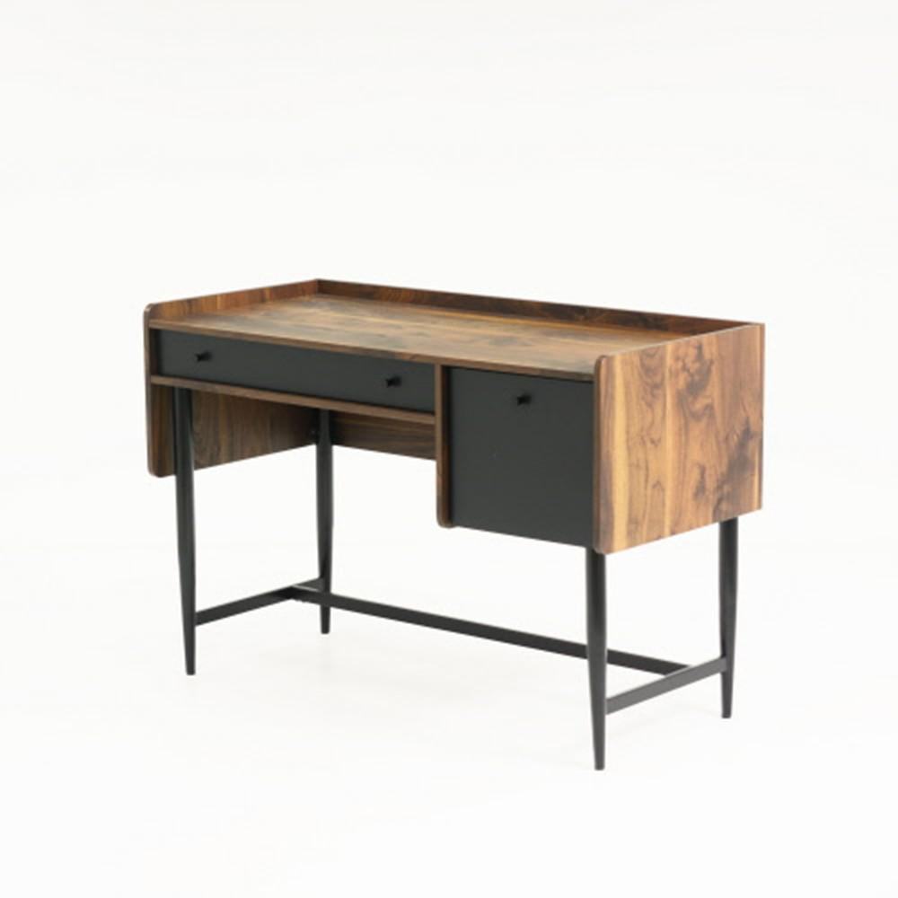 SAUDER Harvey Park Grand Walnut Desk With File Drawer