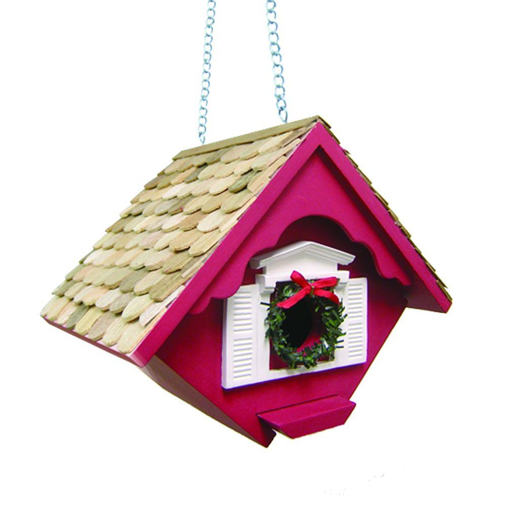 Home Bazaar Christmas Wren Cottage (Red)