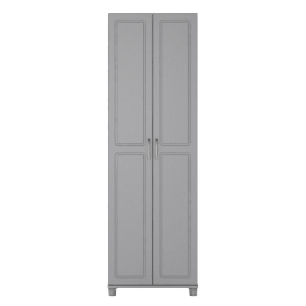 Ameriwood Home Trailwinds 24 in. Ashen Gray Utility Storage Cabinet HD50889