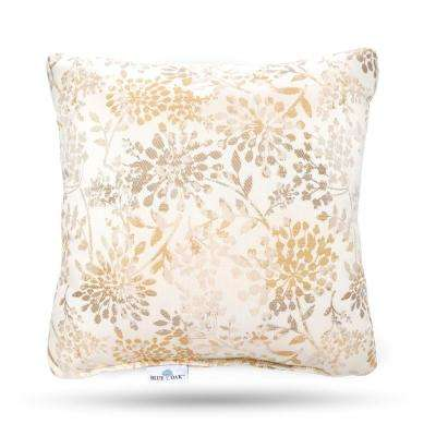 Outdura Whisper Antique Square Outdoor Throw Pillow (2-Pack)