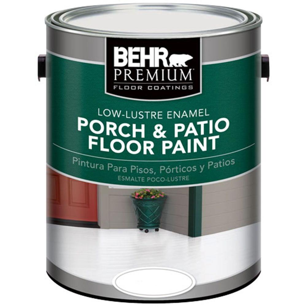 Behr Premium 1 Gal 6050 Ultra Pure White Low Re Interior Exterior Porch And Patio Floor Paint 605001 The Home Depot