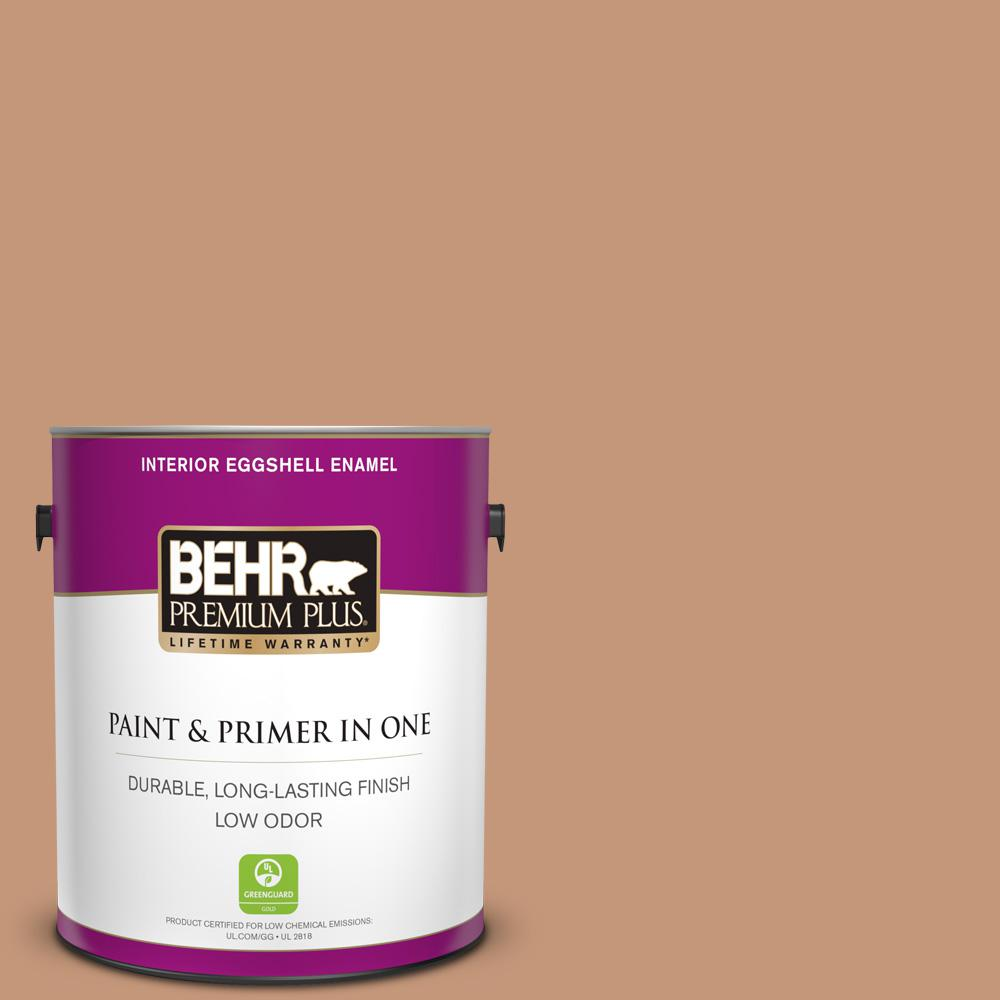 Behr Premium Plus 1 Gal Home Decorators Collection Hdc Ac 02 Copper Moon Eggshell Enamel Low Odor Interior Paint Primer 230001 The Home Depot
