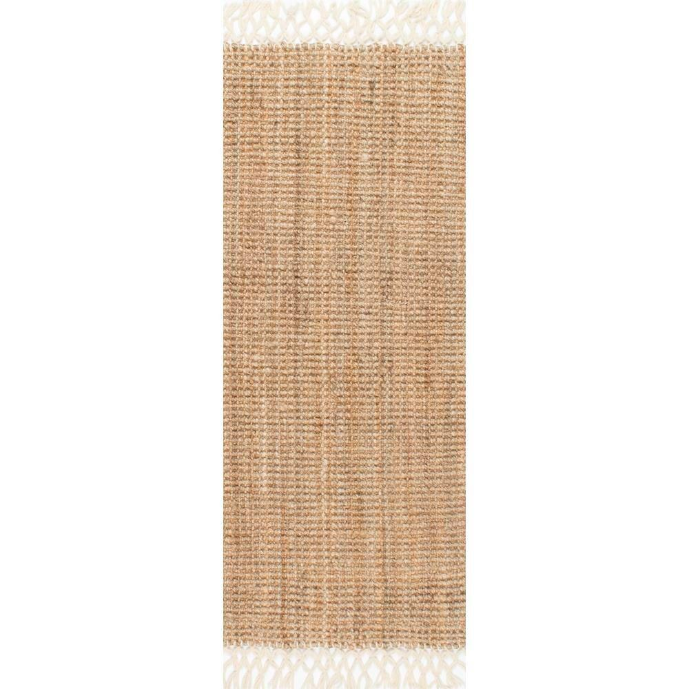 Nuloom Raleigh Natural 2 Ft 6 In X 10 Ft Runner Ncnt24a